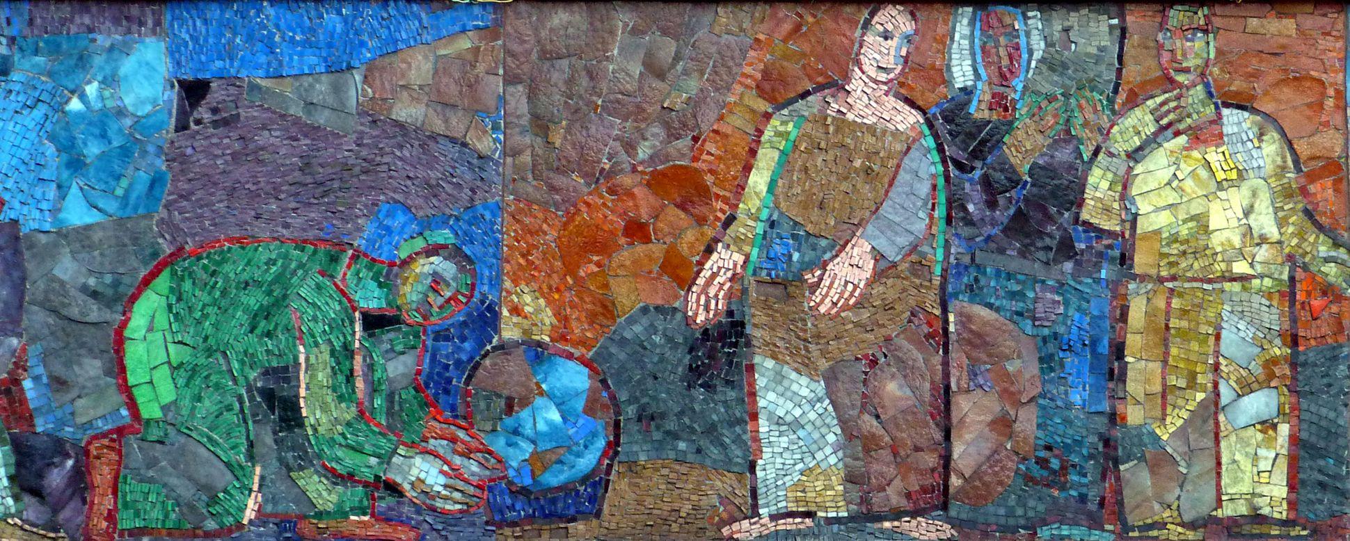 Mosaik am Hauptmarkt in Nürnberg Warenanbieter und Warenabnehmer