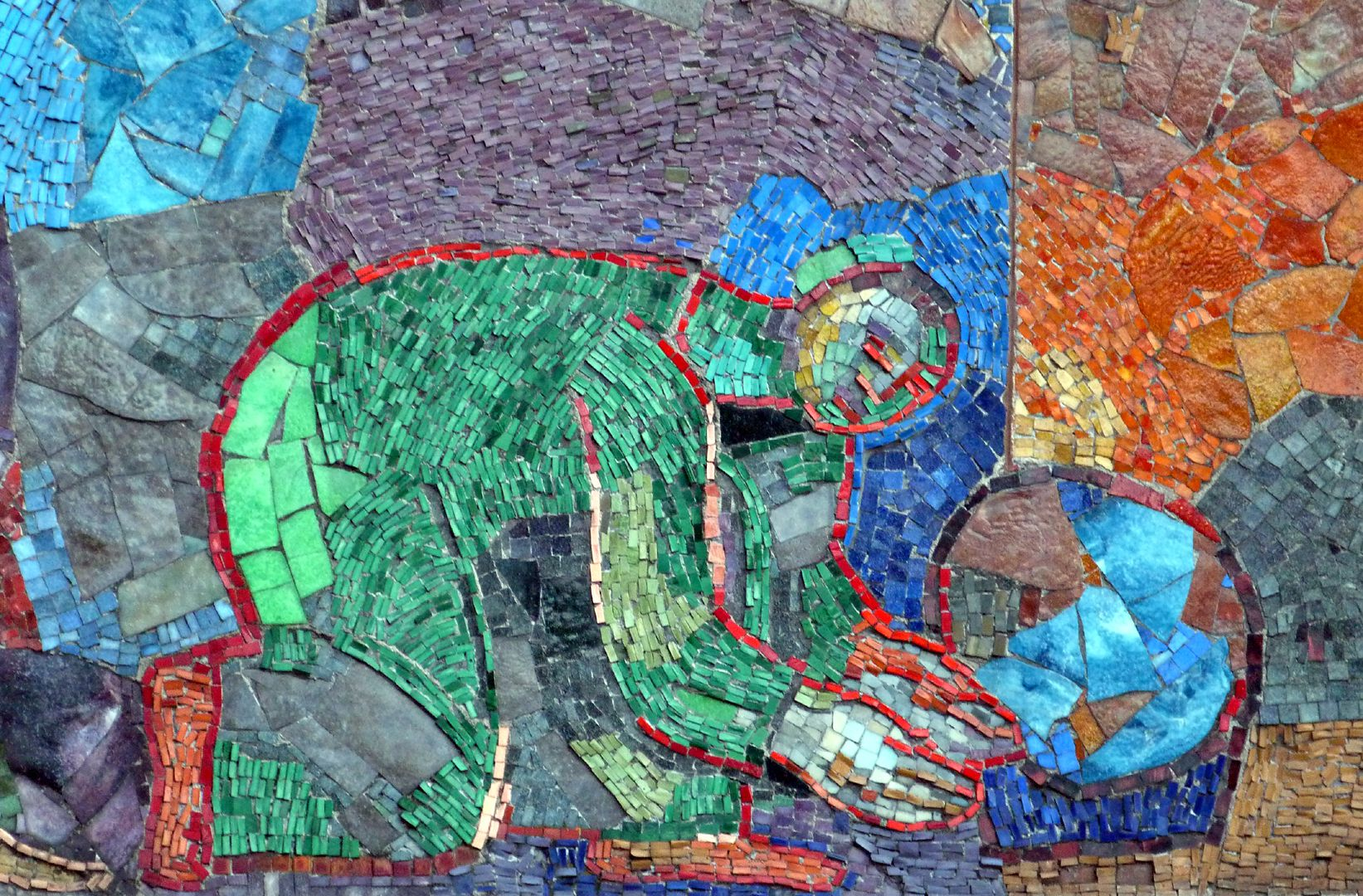 Mosaik am Hauptmarkt in Nürnberg Warenanbieter