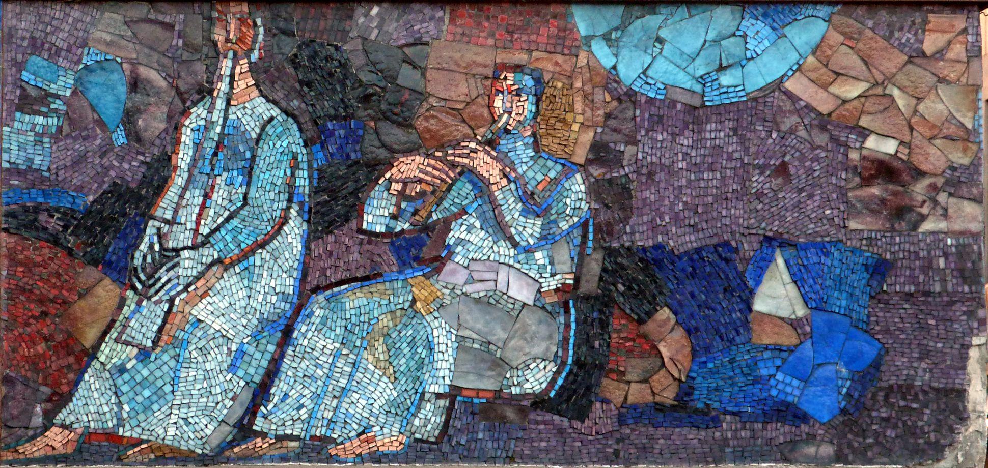 Mosaik am Hauptmarkt in Nürnberg Musikanten