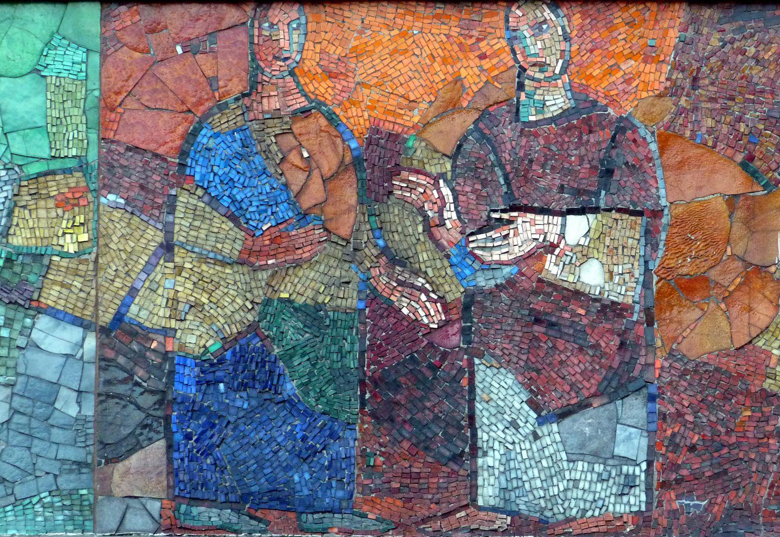 """Mosaik am Hauptmarkt in Nürnberg """"Im Gespräch"""""""
