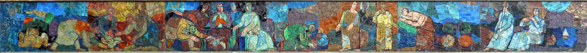 Mosaik am Hauptmarkt in Nürnberg Mosaikband der Nordseite
