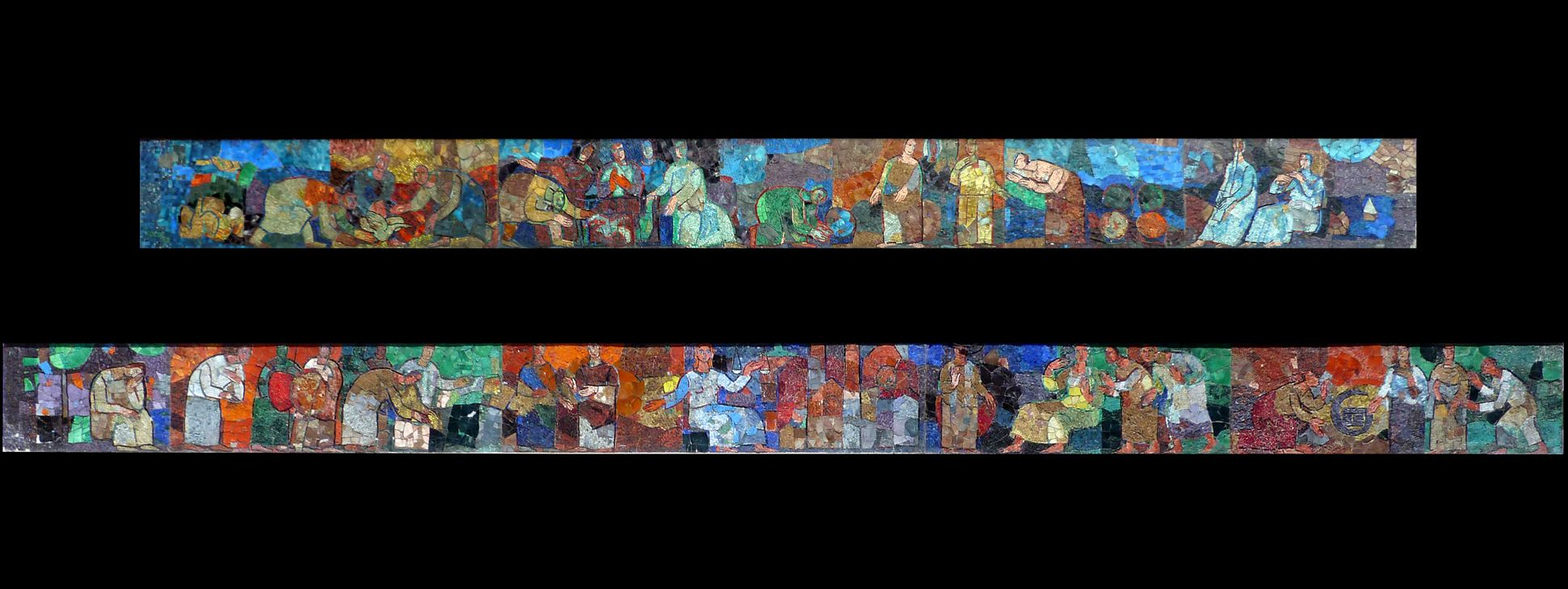 Mosaik am Hauptmarkt in Nürnberg Mosaikbänder