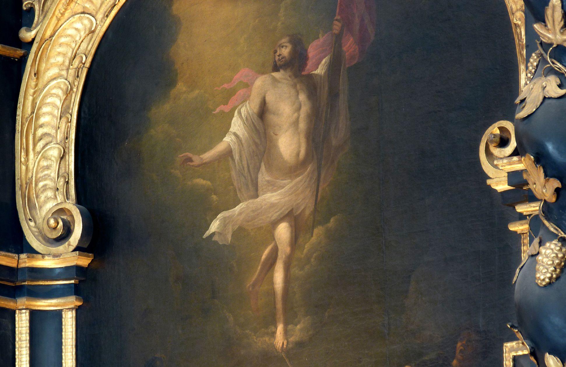 Muffel-Altar Auferstehung Christi, Detail