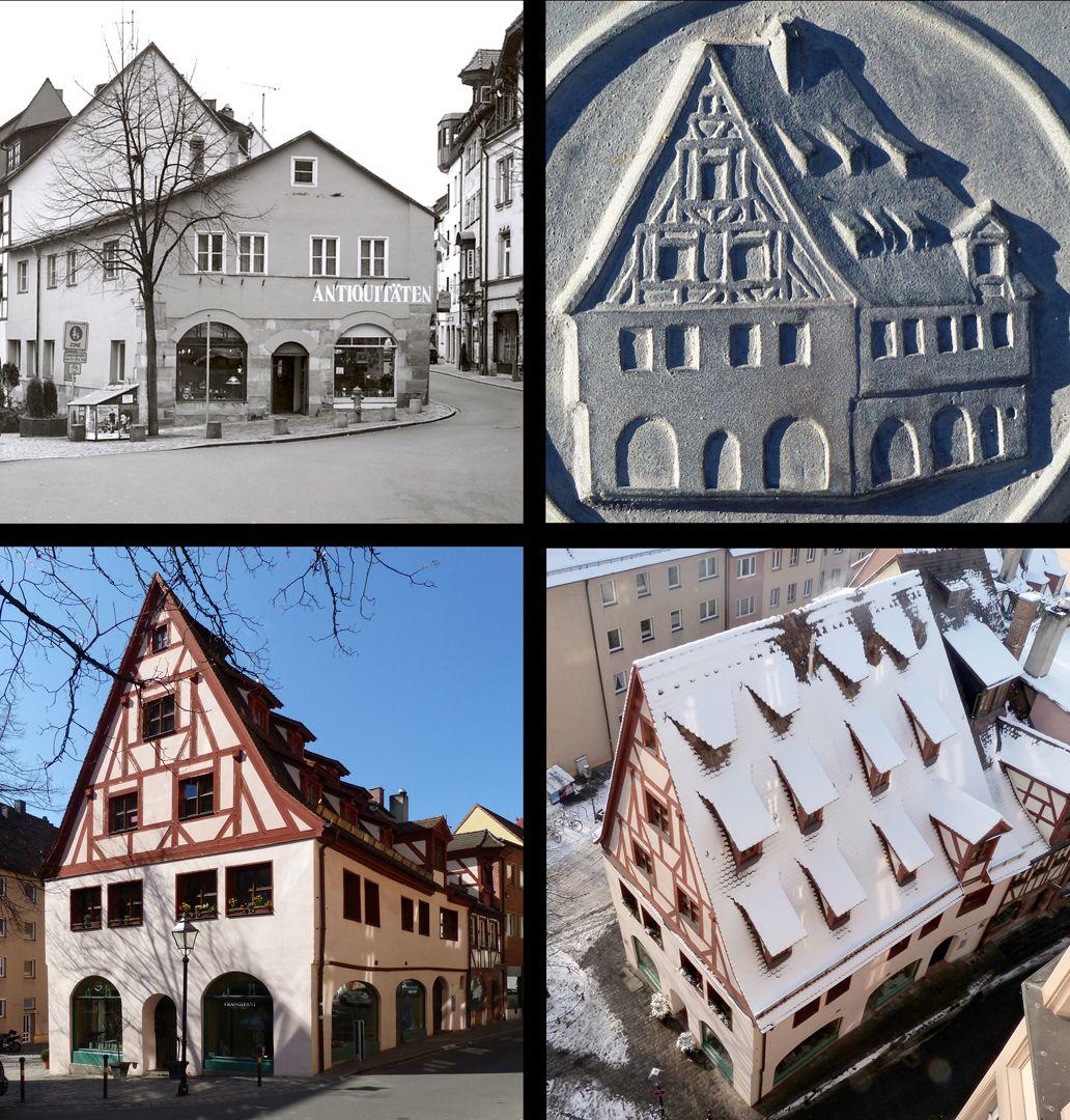Erich Mulzer Grabstätte Oben links: Zustand des Gebäudes vor dem Wiederaufbau. Ab November 2003 wurde mit dem Wiederaufbau begonnen. Fertigstellung war im Oktober 2007. Unten: heutiger Zustand