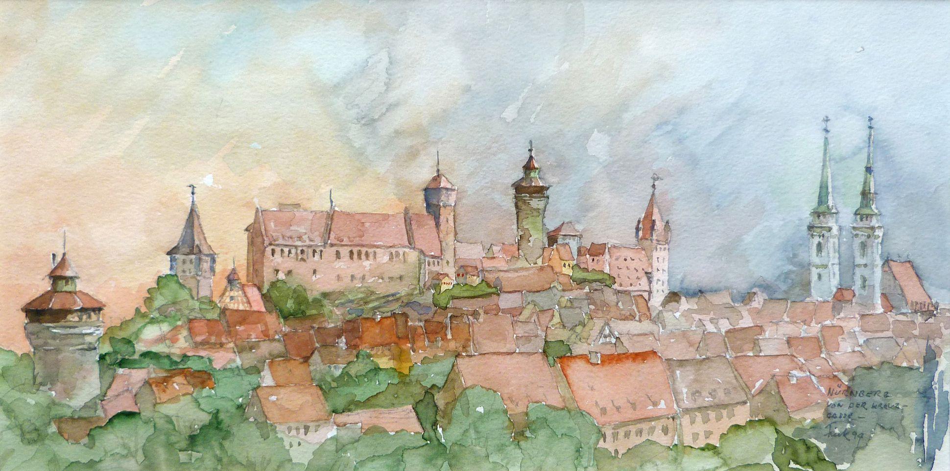 Nürnberg von der Kreuzgasse