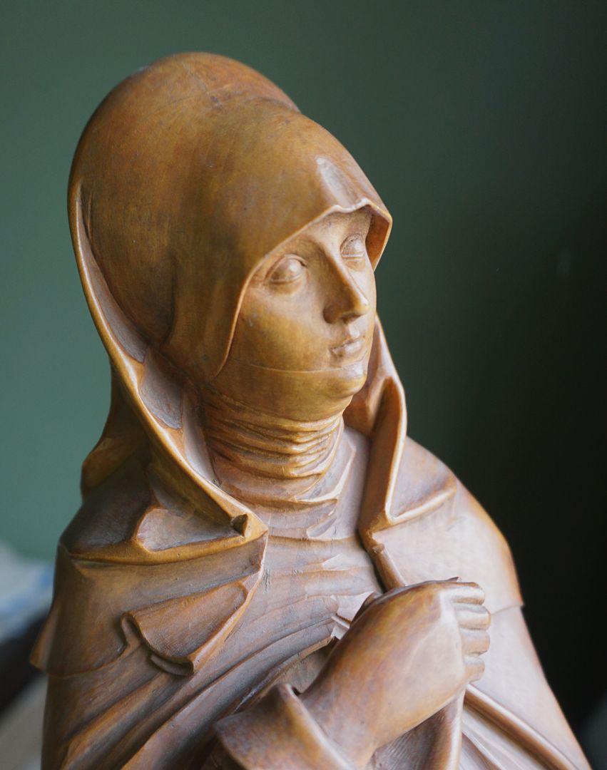 sog. Nürnberger Madonna Oberkörper, Schrägansicht von vorne, Detail