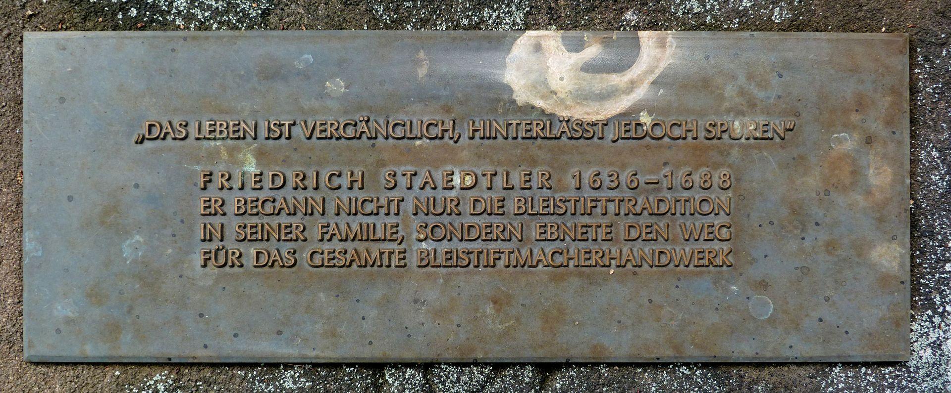 Friedrich Staedler Grabstätte Inschrift