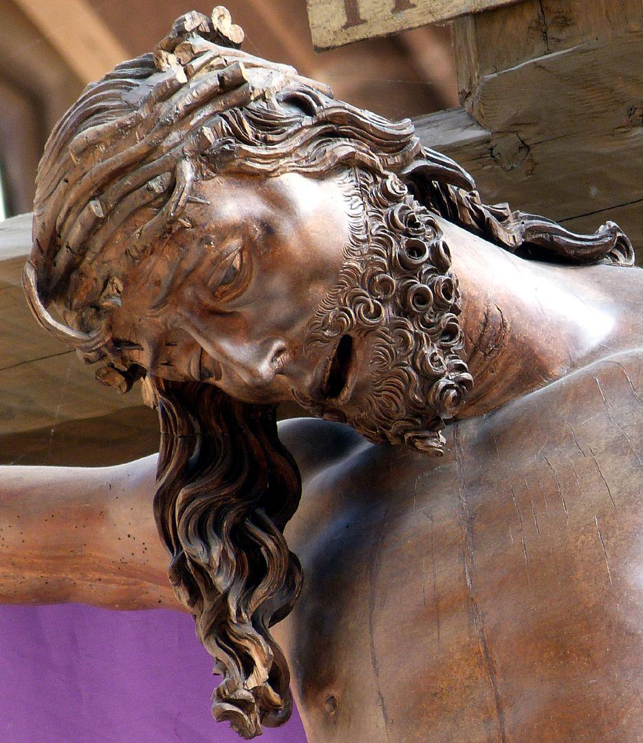 Kruzifixus Kopf des Heilands