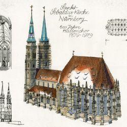 St. Sebalduskirche in Nürnberg, 600 Jahre Hallenchor 1379 - 1979