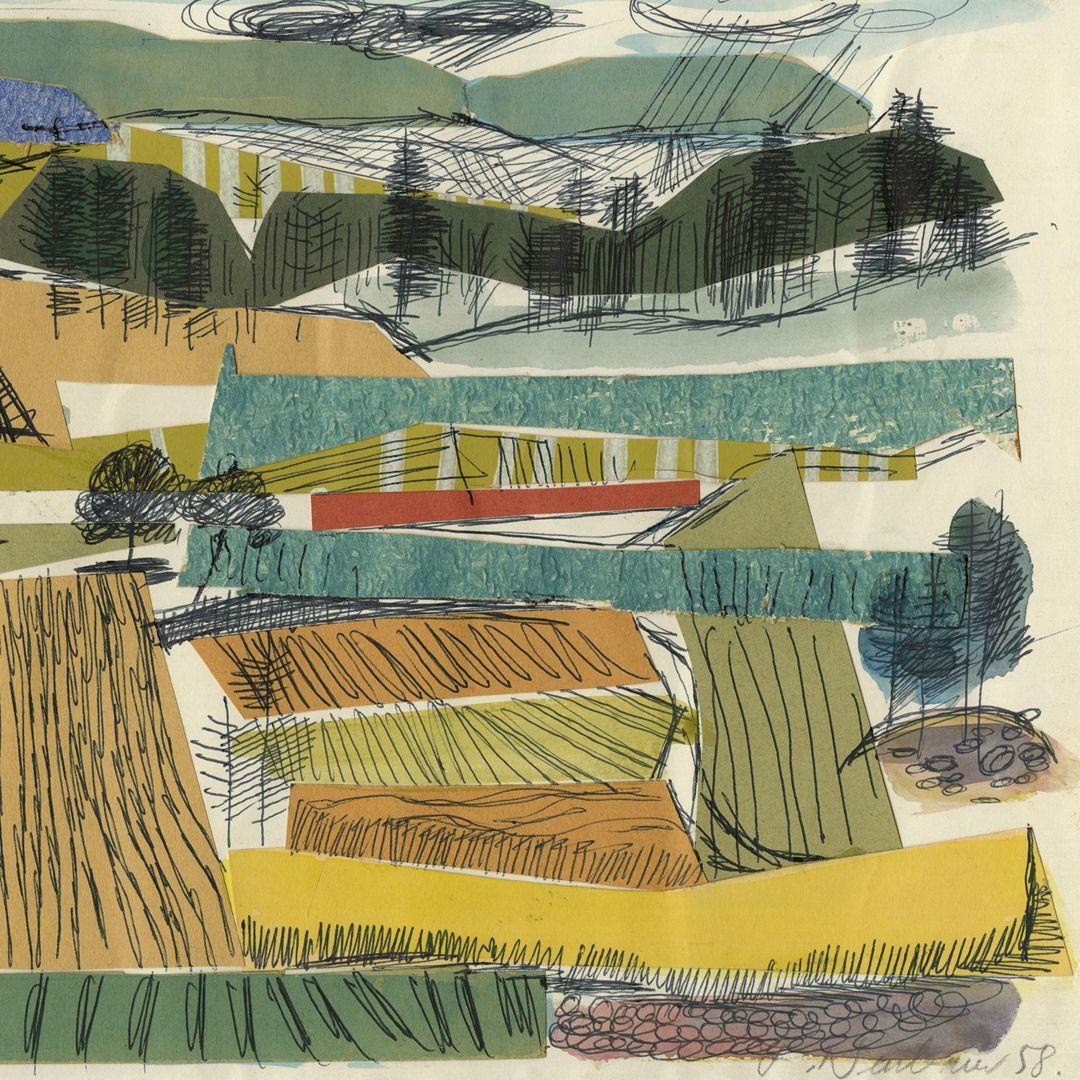 Fränkische Landschaft rechte Blatthäfte