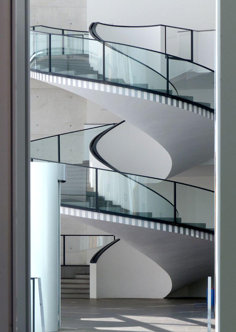 Neues Museum Spiraltreppe, seitliche Ansicht