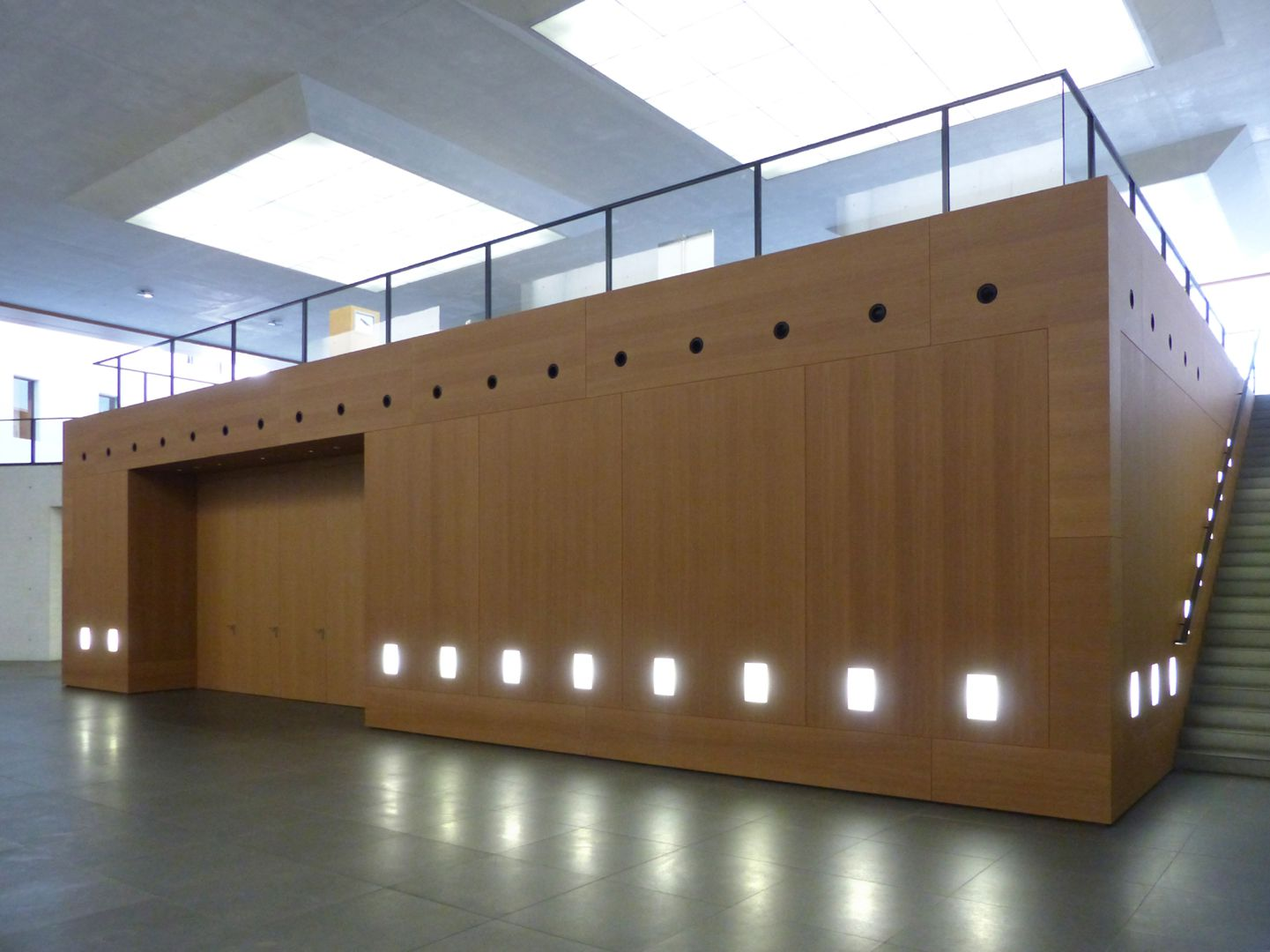 Neues Museum Auditorium im Untergeschoss