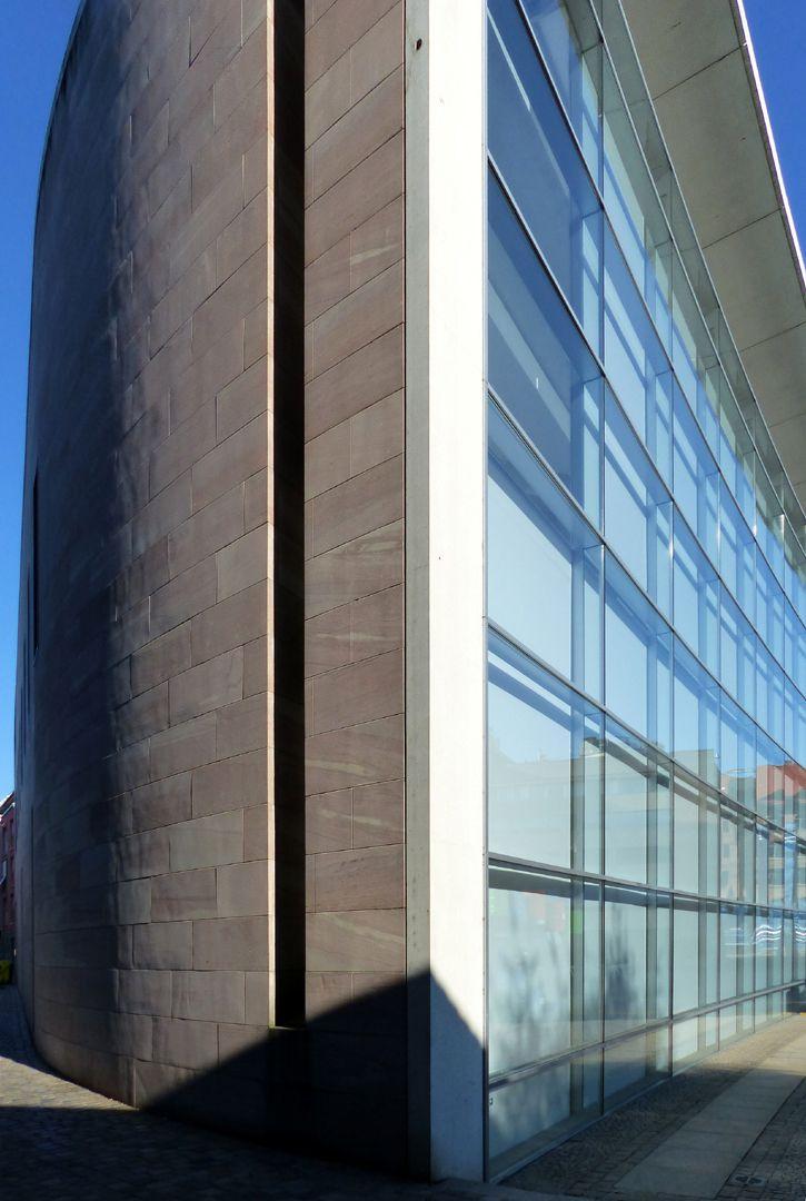Neues Museum Haupttrakt von Süd nach Nord