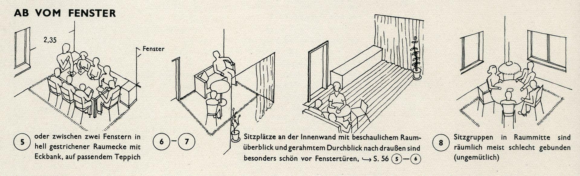 WOHNRÄUME / SITZORDNUNG Ab vom Fenster