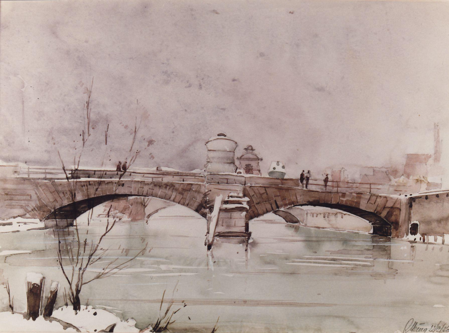 Museumsbrücke vom Heilig-Geist-Spital aus gesehen Gesamtansicht