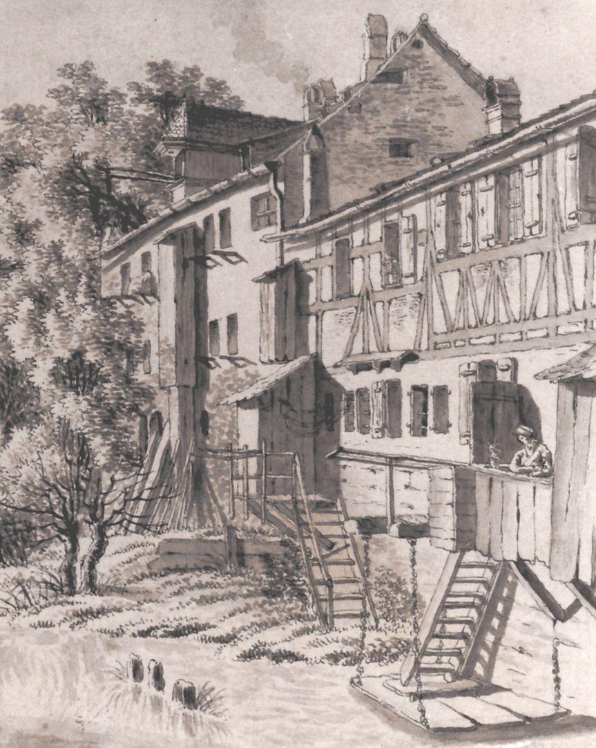 Einfluss der Pegnitz Häuser am Fluss