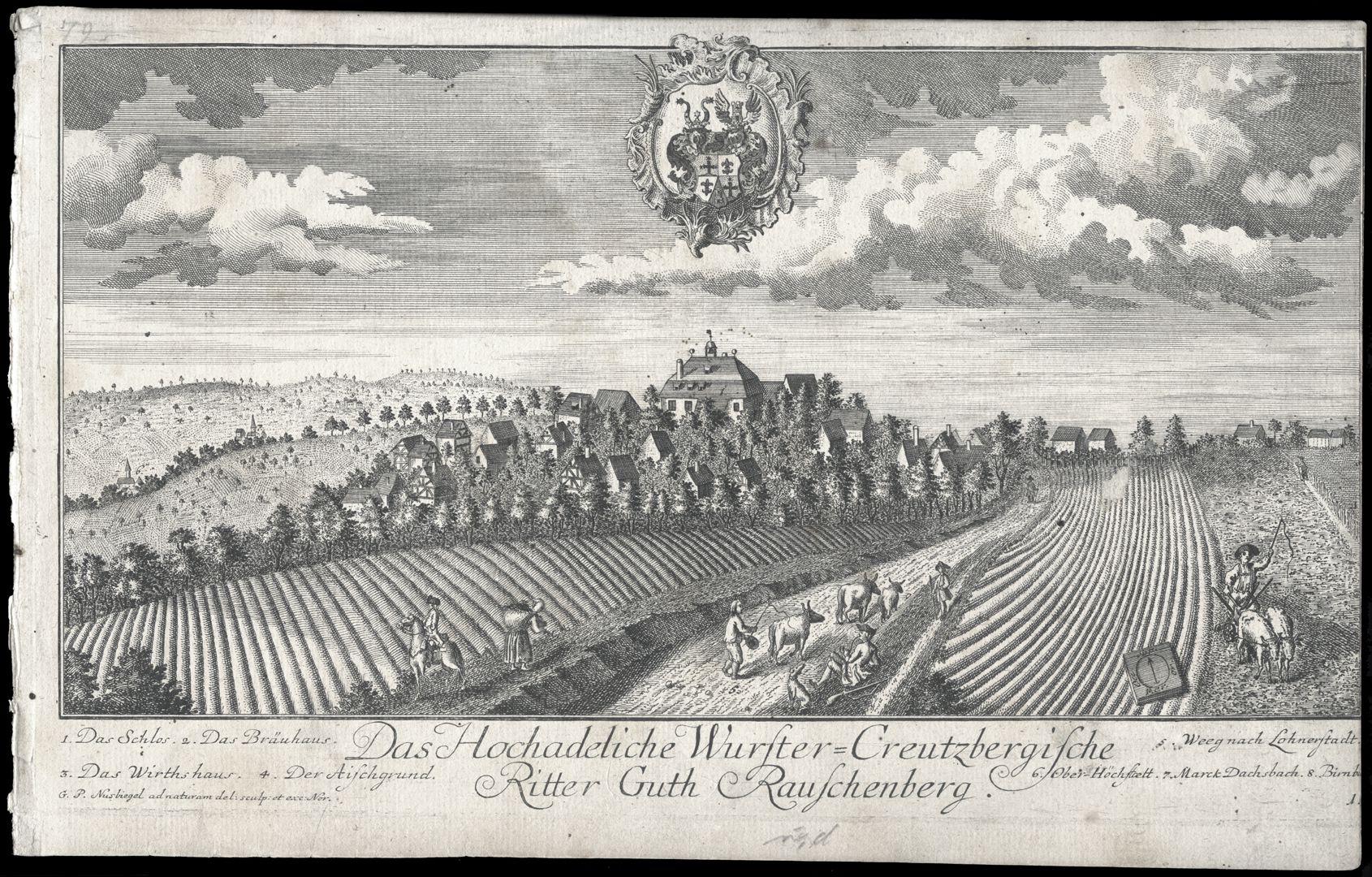 Das Hochadeliche Wurster=Creutzbergische Ritter Guth Rauschenberg