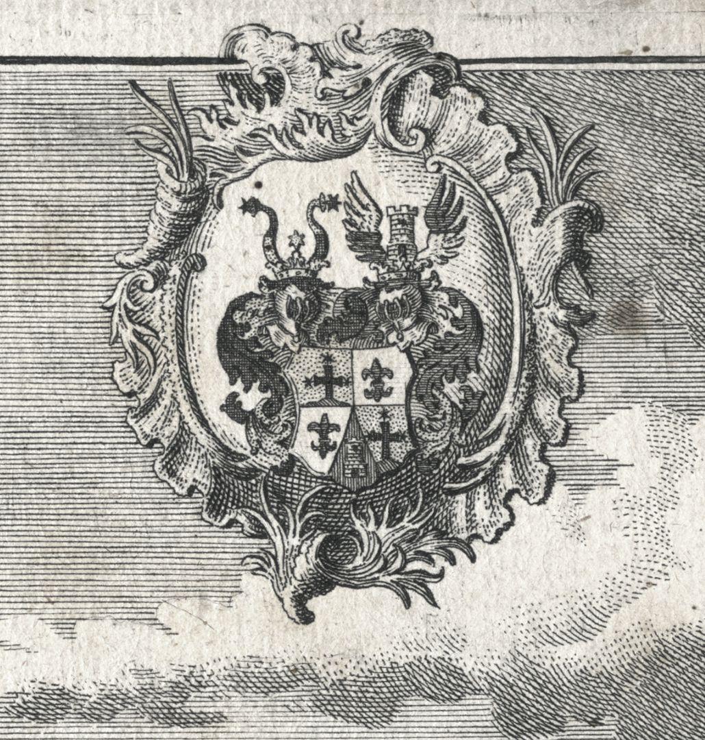 Das Hochadeliche Wurster=Creutzbergische Ritter Guth Rauschenberg Wappen der Freiherren Wurster von Kreuzberg
