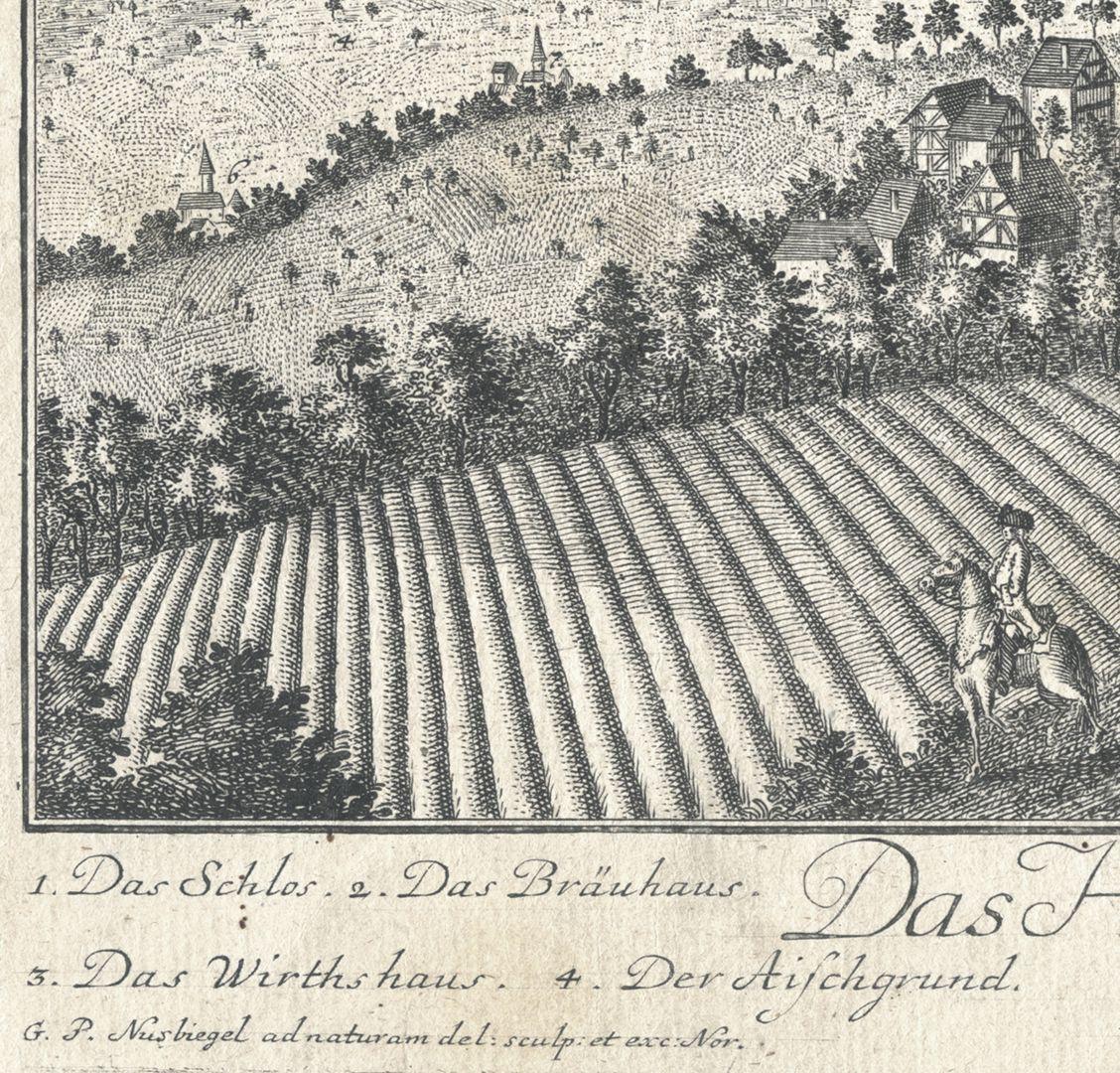 Das Hochadeliche Wurster=Creutzbergische Ritter Guth Rauschenberg Bildausschnitt der linken unteren Bildecke mit Künstlersignatur