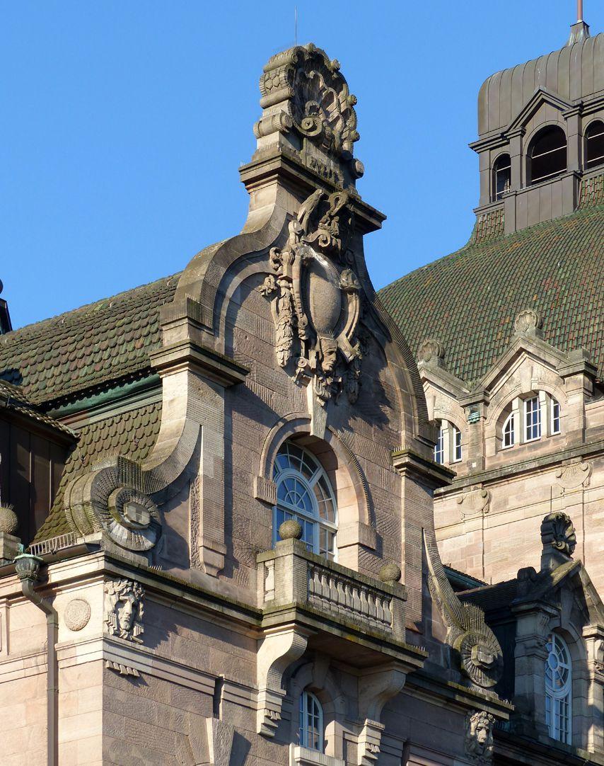 Opernhaus Nordgiebel des Foyertraktes