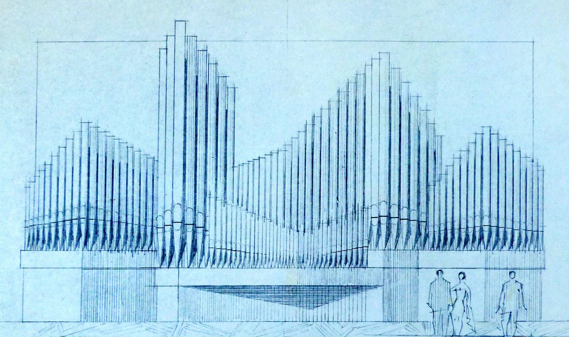 Orgelprospekt in der Meistersingerhalle Nürnberg Orgelprospekt