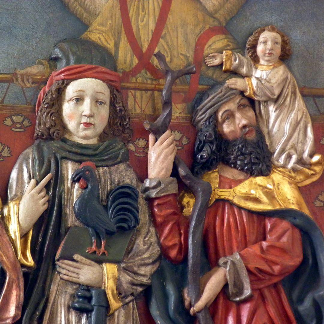 Osternoher Altar Detail: Hll. Vitus und Christophorus
