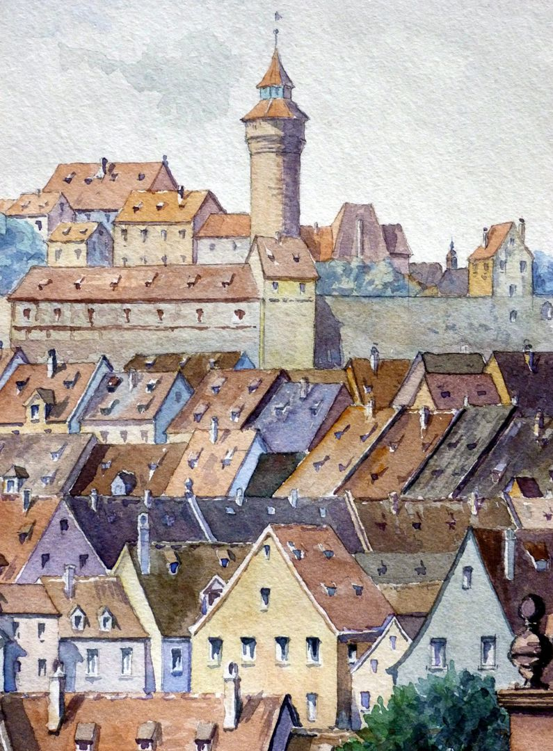 Blick von der Unteren Wörthstraße Detail