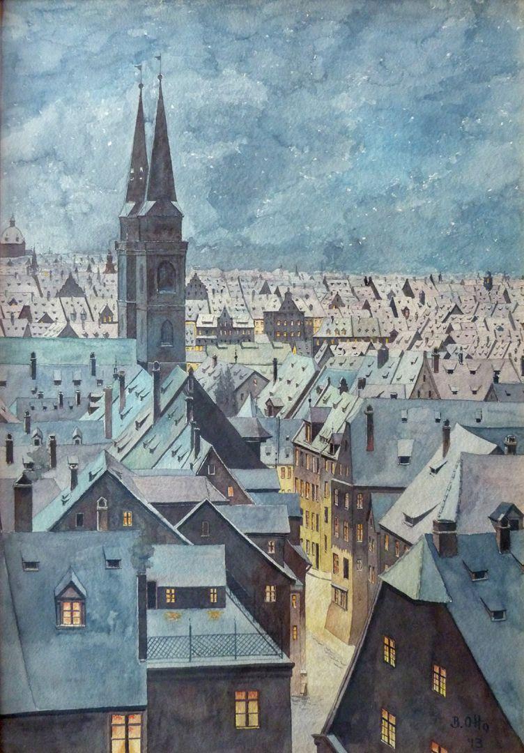 Winterblick auf die Sebalder Altstadt Gesamtansicht