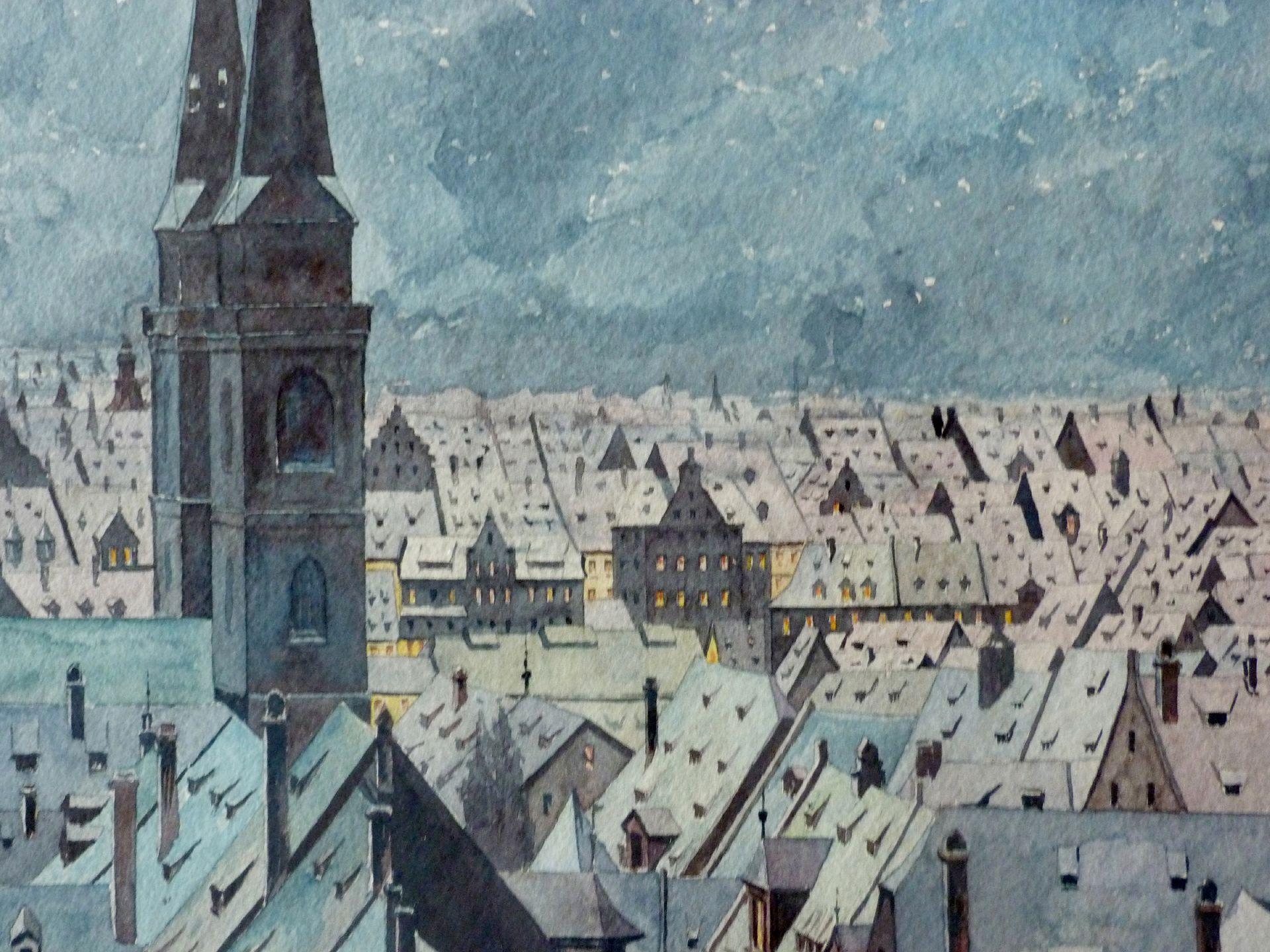 Winterblick auf die Sebalder Altstadt Detail