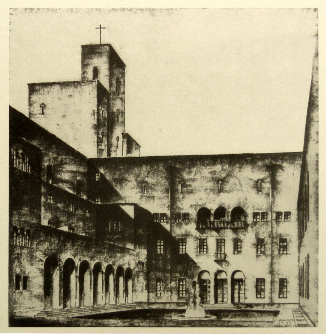 Bistumshaus (Bamberg) Schmuckhof / Abb. aus Nürnberger Kunst der Gegenwart, Rosenmüller, 1928