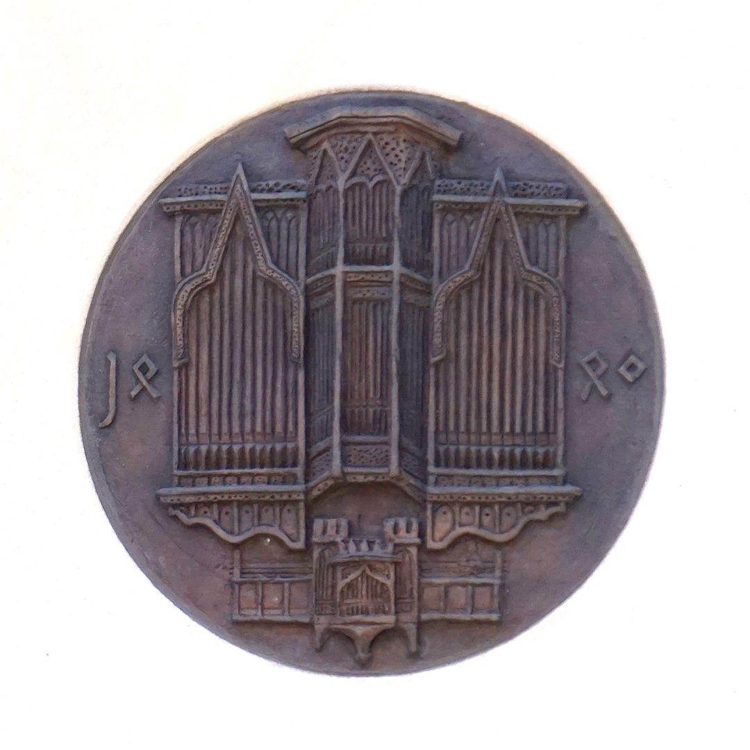 Pachelbel-Gedenktafel Darstellung der Traxdorf-Orgel