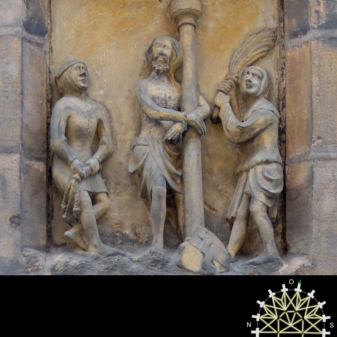 Passionsreliefs Jesu an der Geißelsäule, Detail