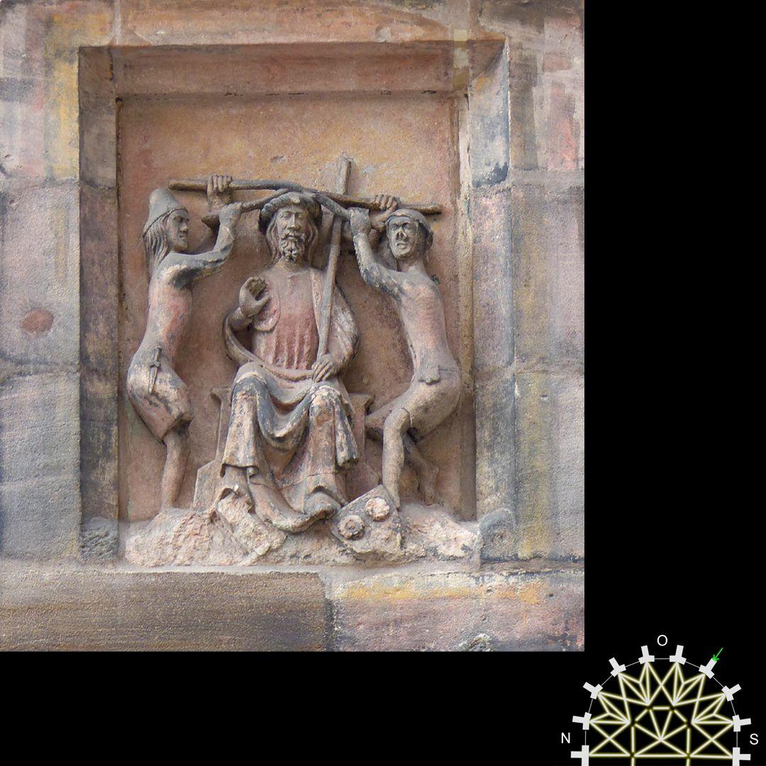 Passionsreliefs Die Dornenkrönung - Wappen der Geuder und Sachs