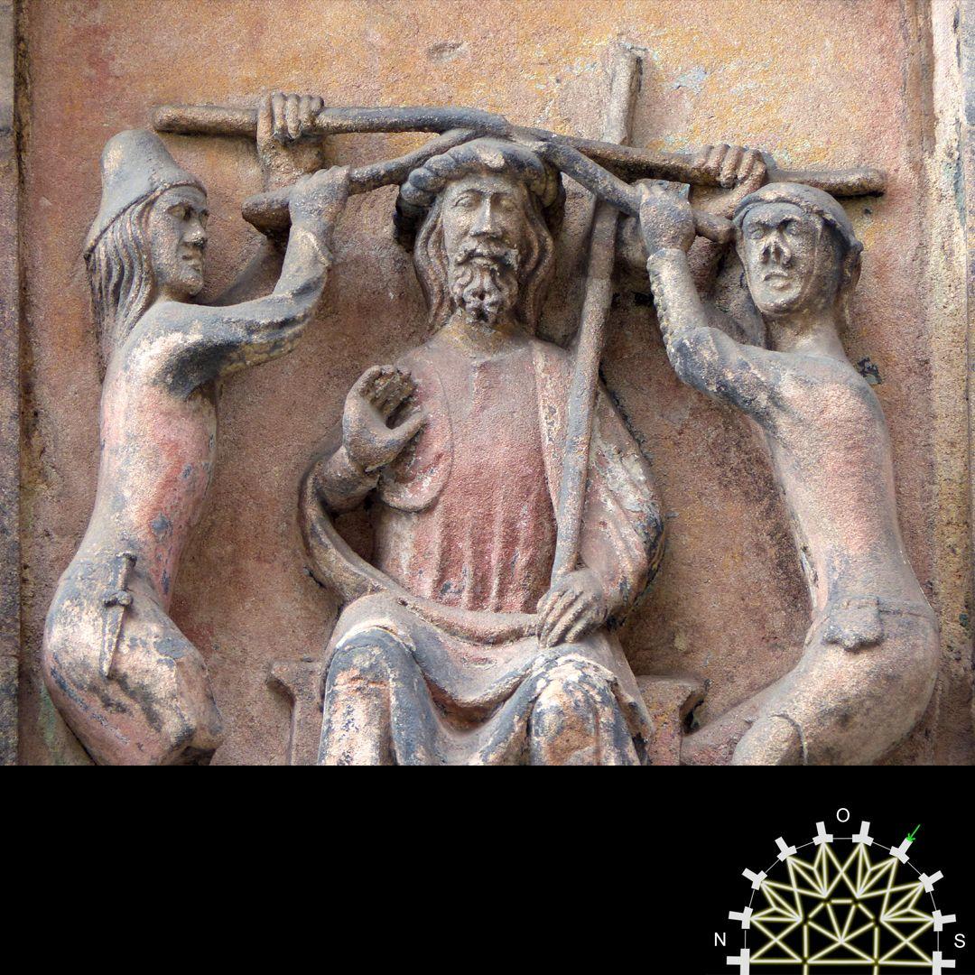 Passionsreliefs Die Dornenkrönung, Detail