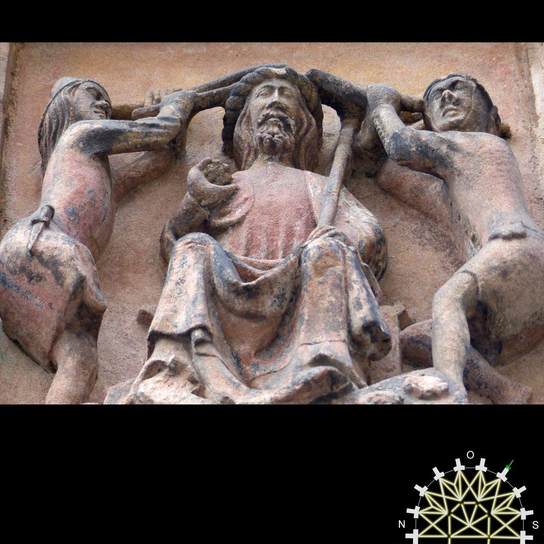 Passionsreliefs Die Dornenkrönung, Schrägansicht von unten, Detail