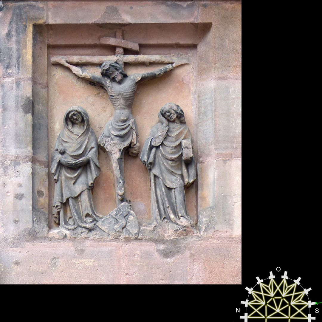 Passionsreliefs Christus am Kreuz - Wappen der Behaim