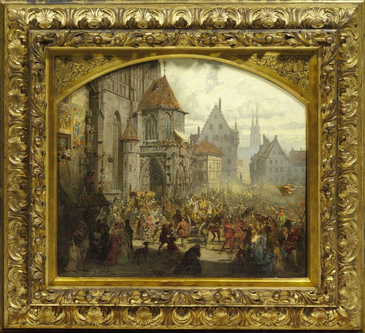 Die Einbringung der Reichskleinodien 1424 (Entwurf)
