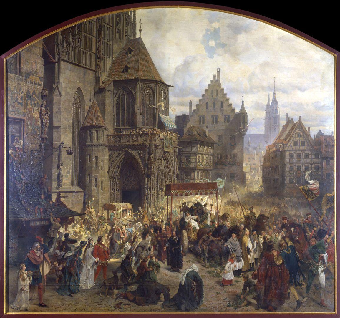 Die Einbringung der Reichskleinodien in Nürnberg am 22. März 1424 Gesamtansicht