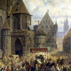 Die Einbringung der Reichskleinodien in Nürnberg am 22. März 1424