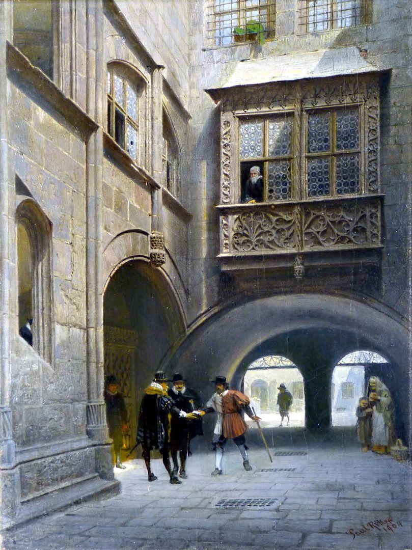 Der kleine Rathaushof in Nürnberg
