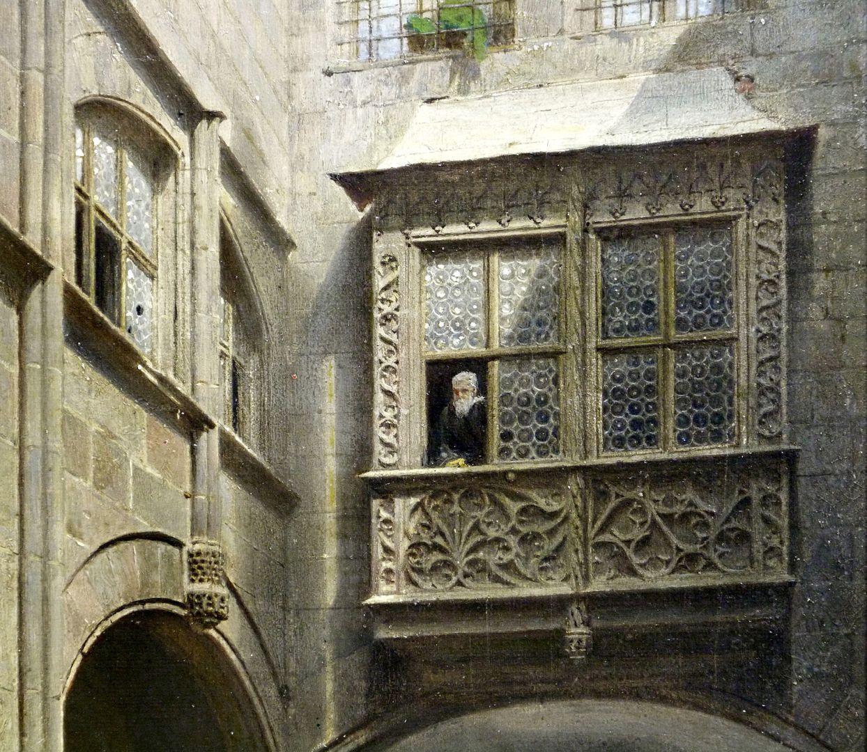 Der kleine Rathaushof in Nürnberg obere Bildhälfte