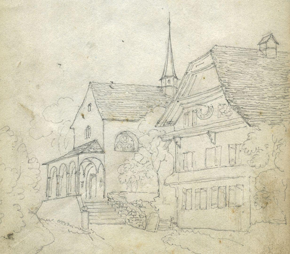 Skizzenbuch von Paul Ritter Motiv aus der Schweiz ?