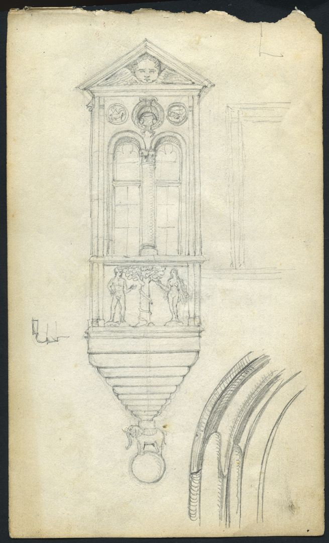 Skizzenbuch von Paul Ritter Chörlein vom Tucherschloß