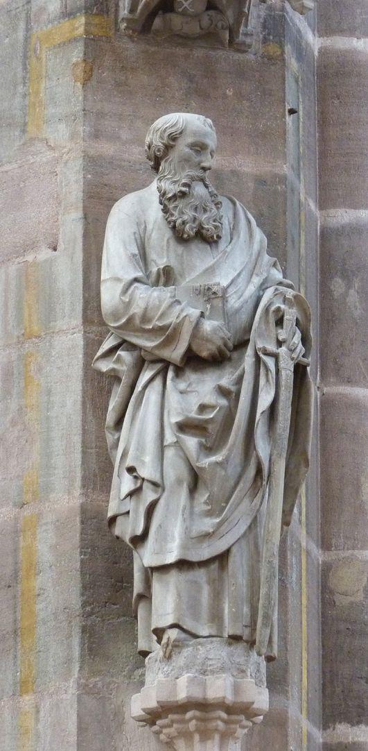Paulus Leichte Schrägansicht von links (im Baldachin Datierung 1513)