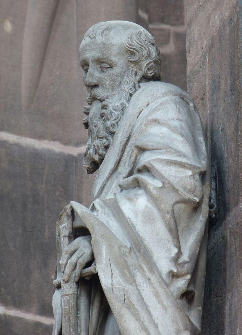 Paulus Seitenansicht von Nord, Detail