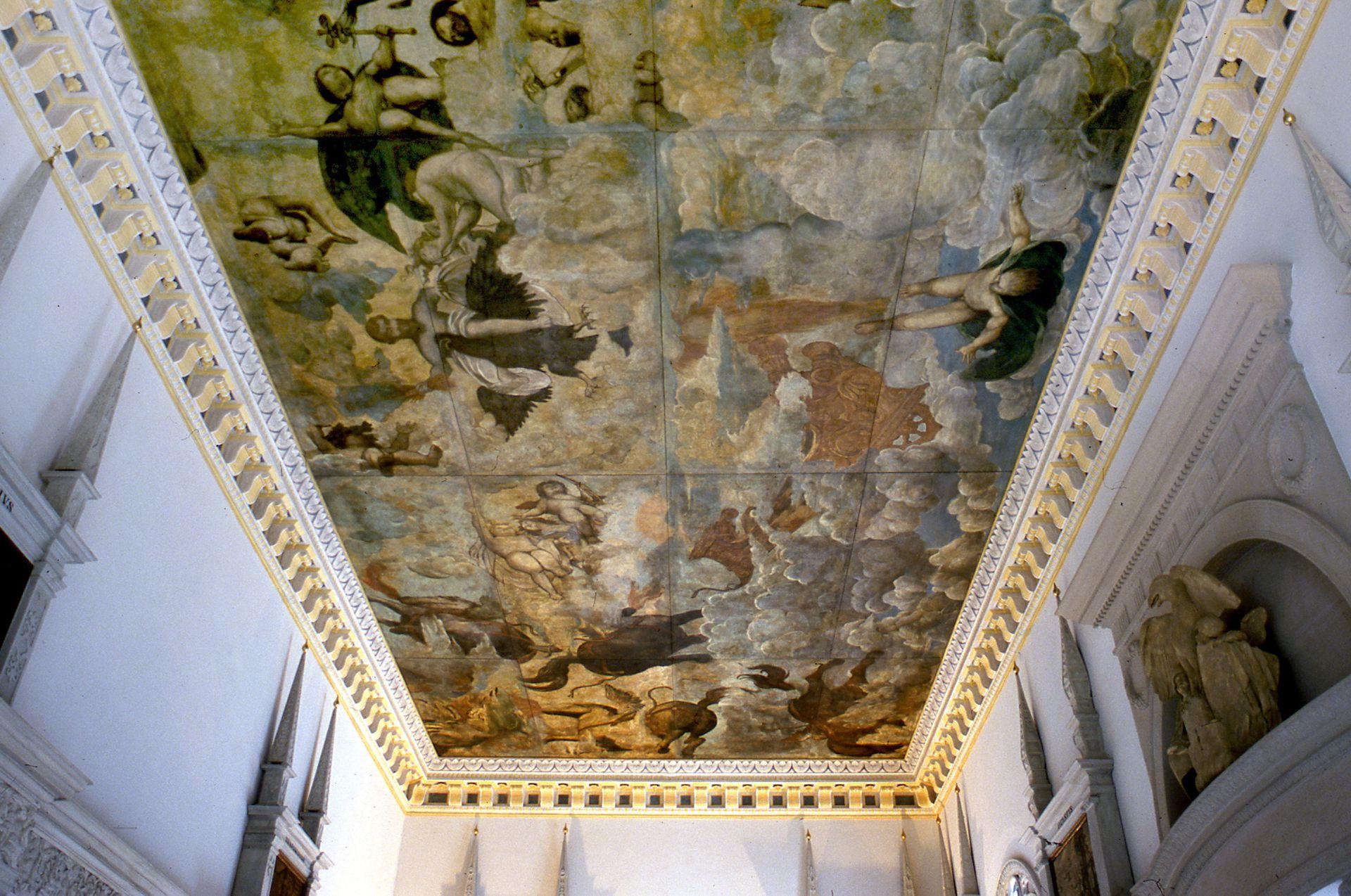 Hirsvogelsaal, gemalte Decke
