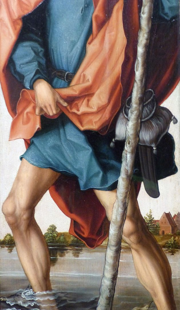 Engel / Johannes d. T. / Johannes d.E. / Christophorus Christophorus, Detail