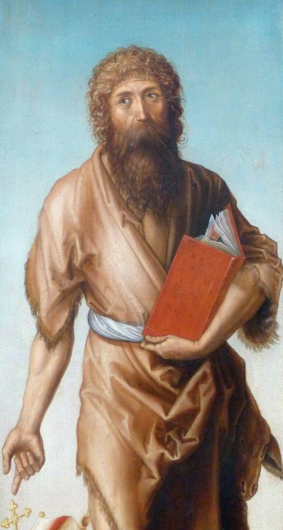 Engel / Johannes d. T. / Johannes d.E. / Christophorus Johannes der Täufer, Detail