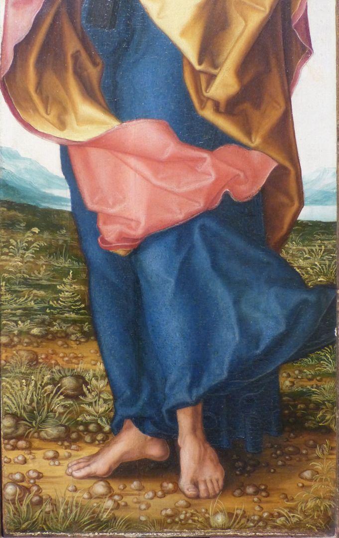 Engel / Johannes d. T. / Johannes d.E. / Christophorus Johannes der Evangelist, Detail