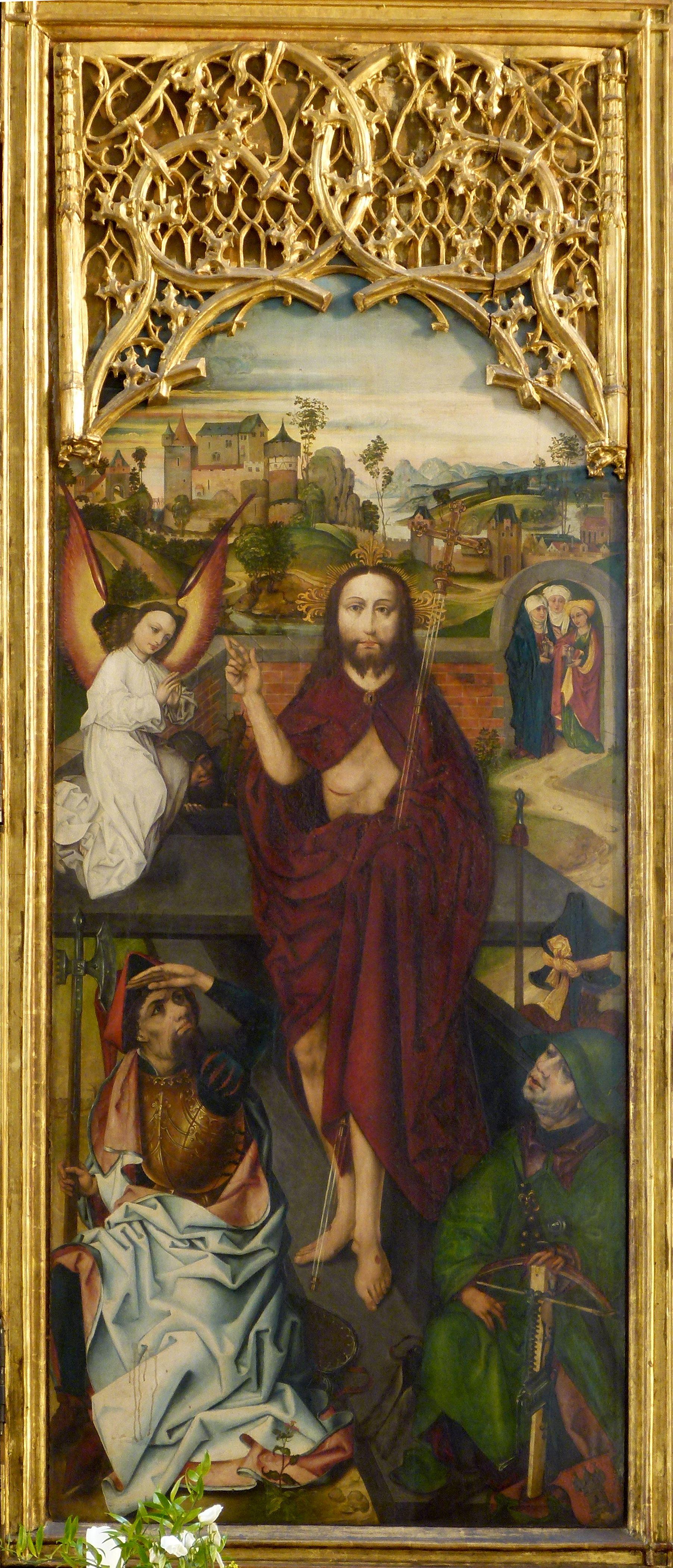 Peringsdörfer Altar Retabel im geöffneten Zustand, rechter Flügel: Auferstandener